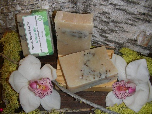 natural soap beeswax hint of mint