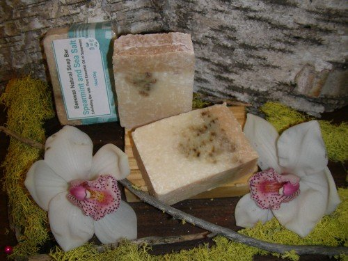 natural soap beeswax spearmint and sea salt